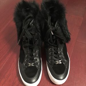 Michael Kors Sneakers With Fur 7.5 Worn Once